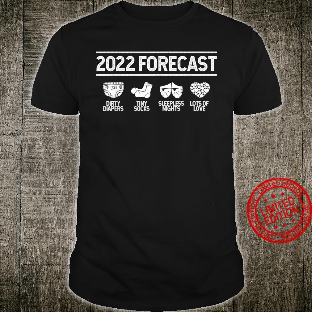 2022 Forecast New Mom Dad Expecting Baby Announcement Shirt