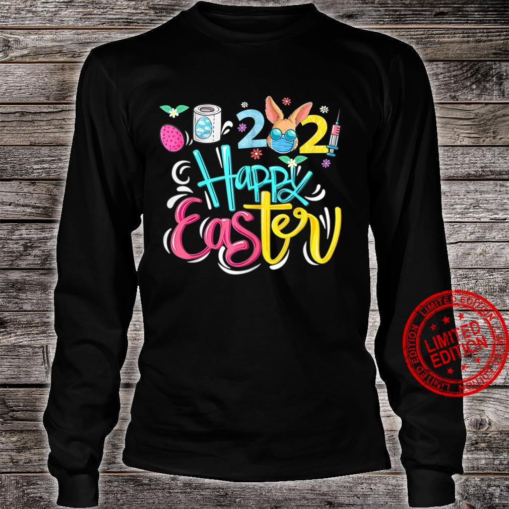 Happy Easter Bunny In A Mask 2021 Eggs Hunt Shirt long sleeved