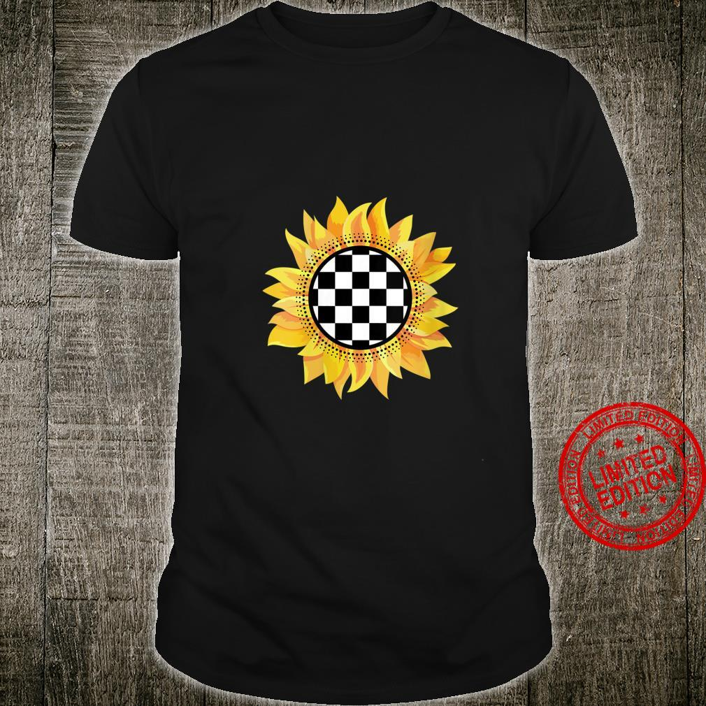 Womens Checkered Sunflower Checked Racing Party Shirt